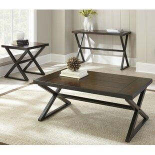 Best Remillard 3 Piece Coffee Table Set ByTrent Austin Design