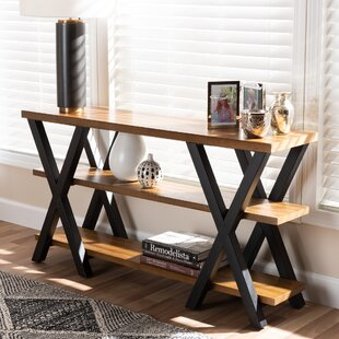 Bellamira Vintage Rustic Industrial Console Table