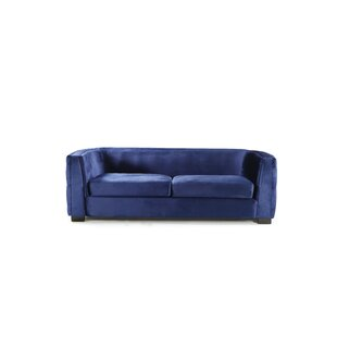 Orben Button-Tufted Curved Shelter Arm Chesterfield Sofa