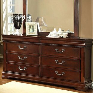 Astoria Grand Avondale 6 Drawer Double Dresser with Mirror Image