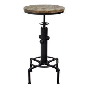 Tedder Wooden Adjustable Pub Table