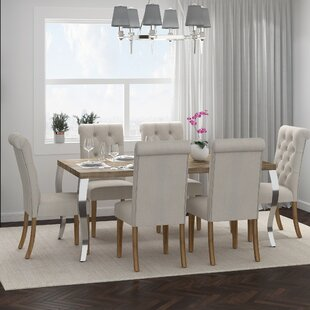 Rahman 7 Piece Solid Wood Dining Set