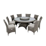 Highfield 9 Piece Dining Set with Cushions