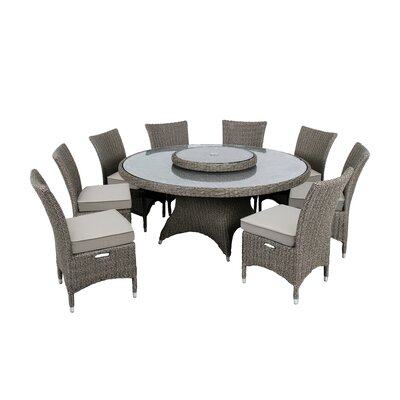 Highfield 9 Piece Dining Set With Cushions by Martha Stewart Best Design