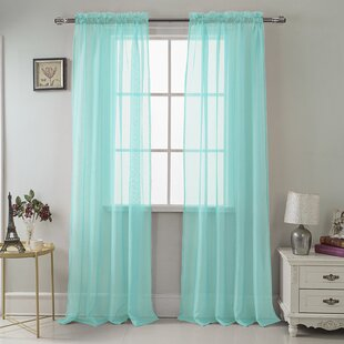 Daron Solid Sheer Rod Pocket Single Curtain Panel by Harriet Bee