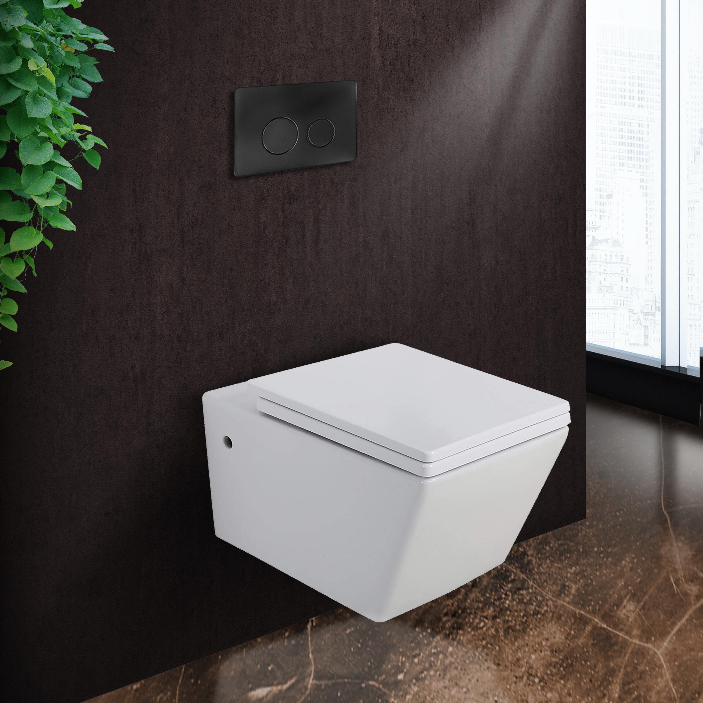 Fine Fixtures Stormon Dual Flush Round Wall Mount Toilet Seat Included Wayfair