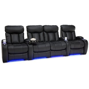 Home Theater Row Seating Row of 4 with Middle Loveseat