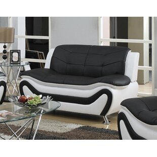 Machelle Modern Living Room Loveseat