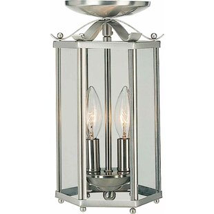 2-Light Pendant or Semi Flush Mount by Volume Lighting