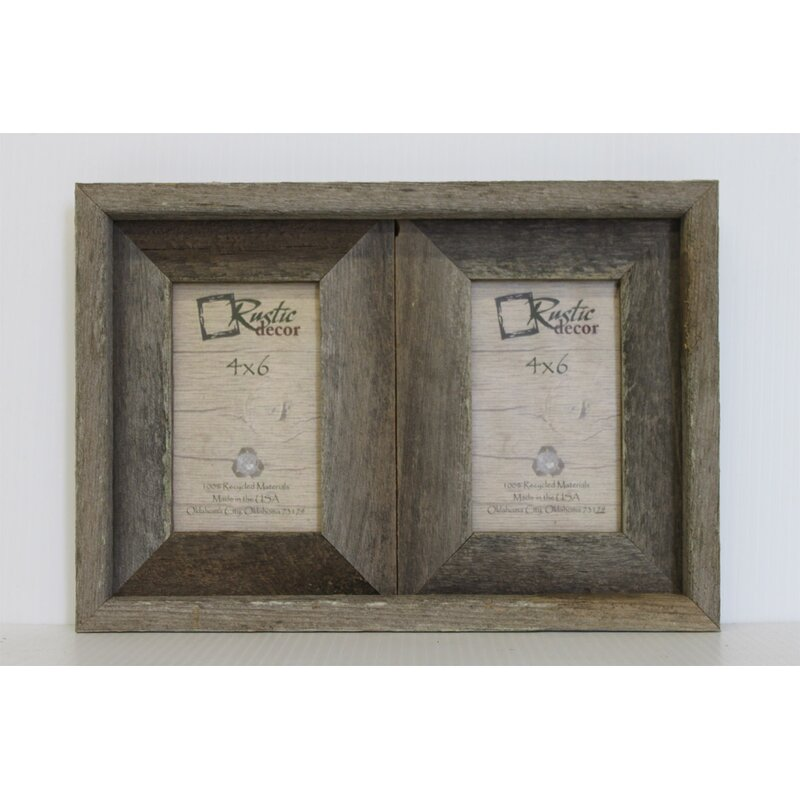 RusticDecor Barn Wood 2 Opening Picture Frame & Reviews | Wayfair