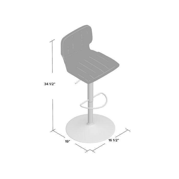 Sensational Hellwig Adjustable Height Swivel Bar Stool Alphanode Cool Chair Designs And Ideas Alphanodeonline
