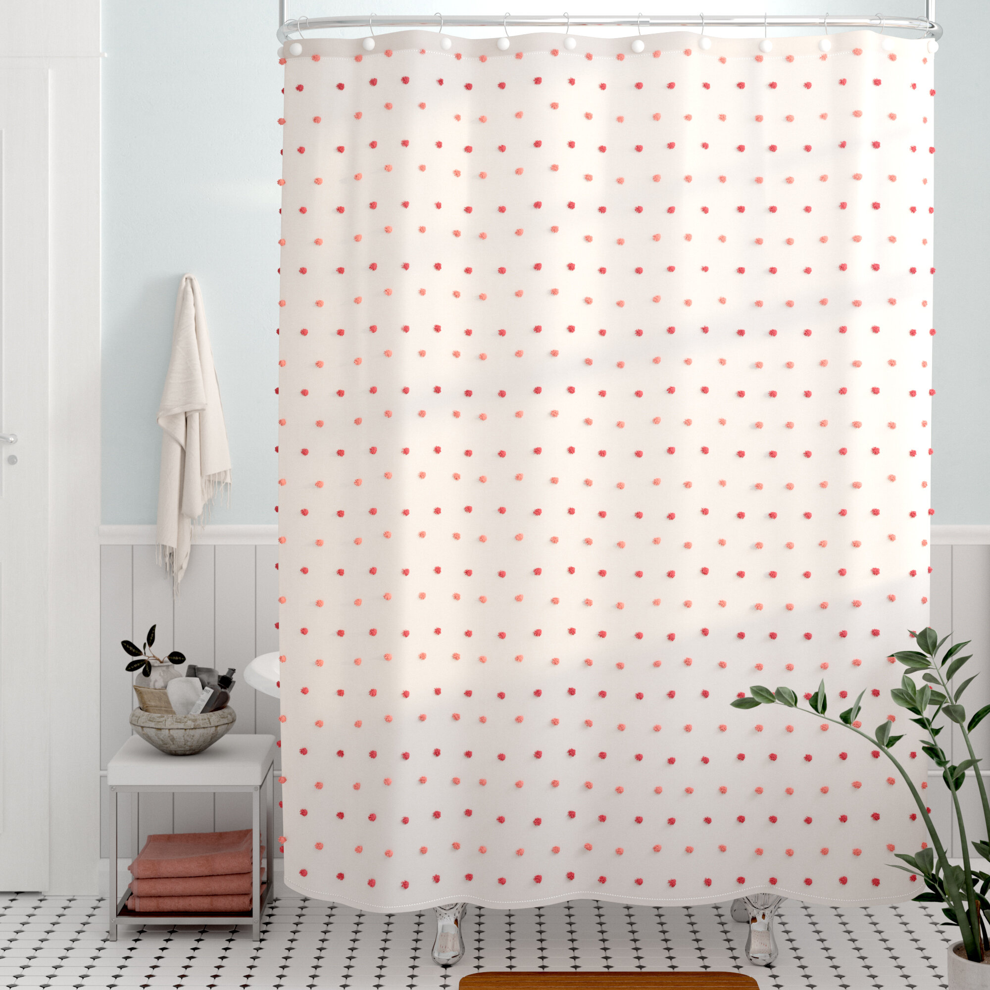 Viv Rae Alvaro Colorful Dot Single Shower Curtain Reviews Wayfair