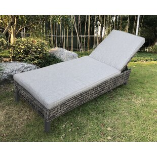 Begaye Outdoor Reclining Chaise Lounge with Cushion