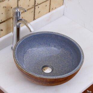 Elimaxs Elite Ceramic Circular Vessel Bathroom Sink