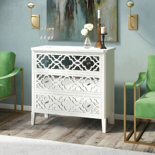 Lelia Mirrored 3 Drawer Chest ..