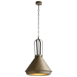 Braley 1-Light Bell Pendant by Williston Forge