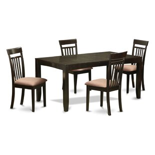 East West Furniture Lynfield 5 Piece Extendable Dining Set