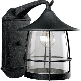 Alcott Hill Triplehorn 1-Light Outdoor Wire Wall Lantern