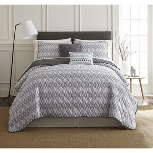 Duggins 5 Piece Reversible Quilt Set