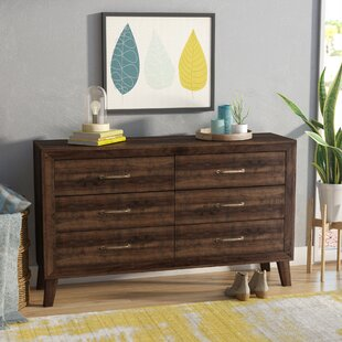 Amelia 6 Drawer Double Dresser by Langley Street