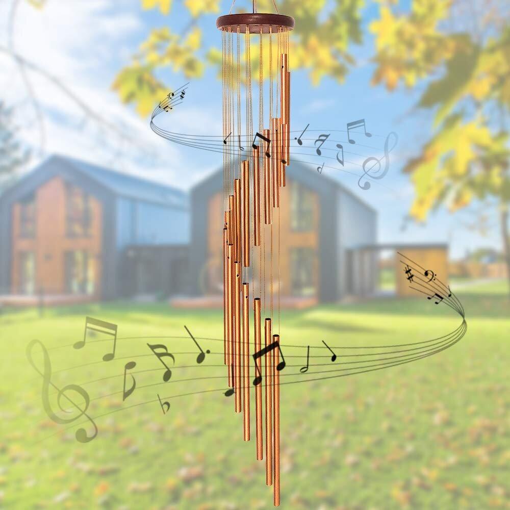 6 Hanging Wind Chimes Metal Tube Traditional Home Window Garden Decor yard Gift