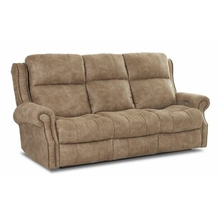 Defiance Reclining Sofa with Headrest and Lumbar Support Red Barrel Studio