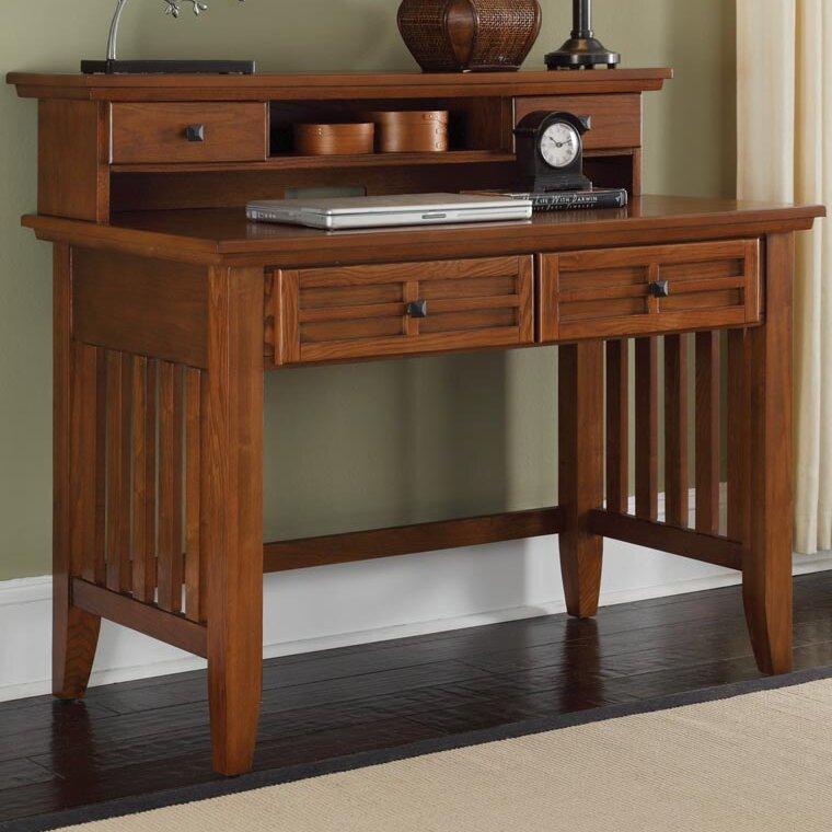 Andover Mills Neela Solid Wood Executive Desk With Hutch Reviews Wayfair