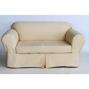 Box Cushion Loveseat Slipcover by Red Barrel..