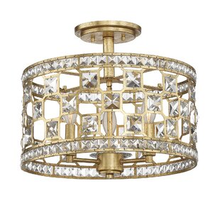 Bottorff 3-Light Semi-Flush Mount by Willa Arlo Interiors