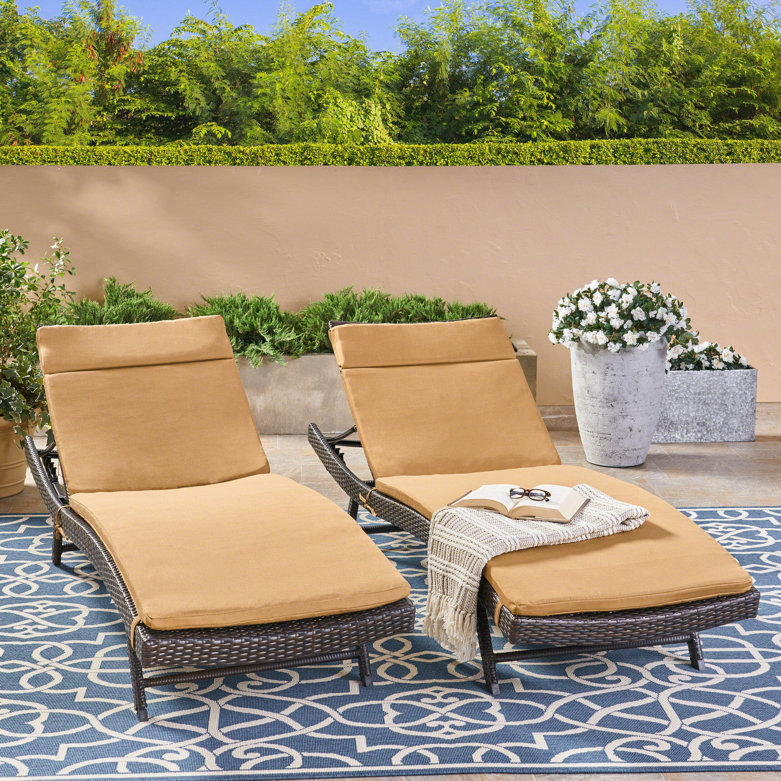 - Shades Of Blue Collection 72 X 22 Outdoor Chaise Lounge Cushion