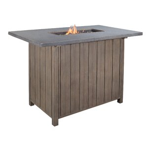 Goufes Aluminum Propane Fire Pit Table By Bay Isle Home
