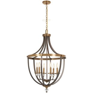 Gracie Oaks Mauer 6-Light Urn Pendant