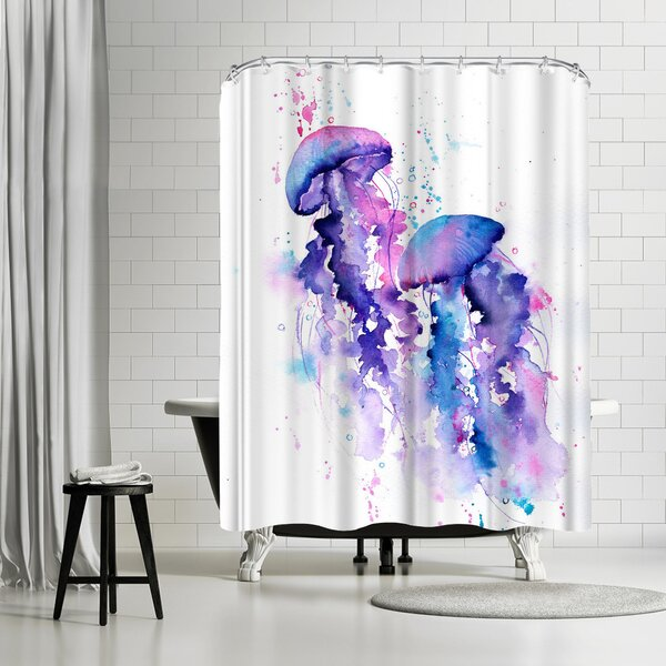 East Urban Home Rachel Mcnaughton Jellyfish Single Shower Curtain Wayfair