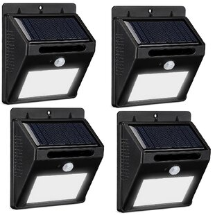 Solar 4-Light LED Deck Lights (Set of 1) by Symple Stuff