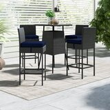 Tripp 5 Piece Bar Height Dining Set with Sunbrella Cushions
