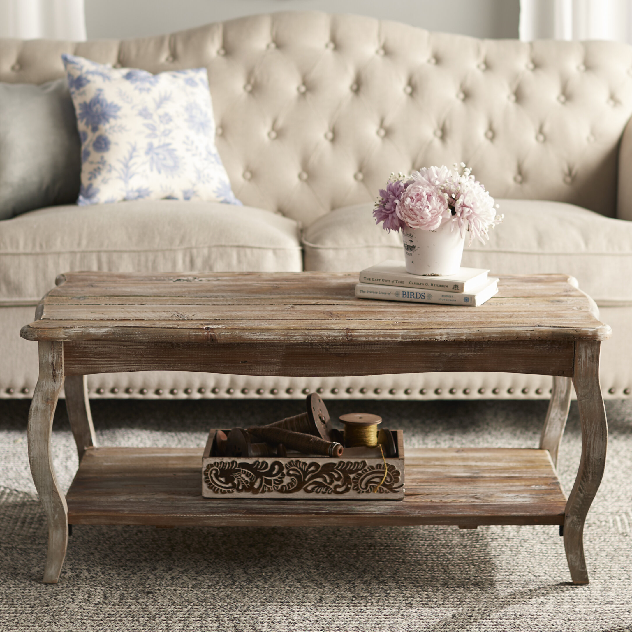 - Francoise Solid Wood Coffee Table With Storage & Reviews Joss & Main