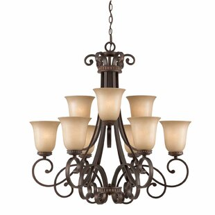 Fleur De Lis Living Albin 9-Light Shaded Chandelier