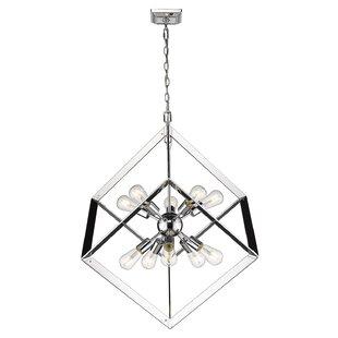Orren Ellis Trosky 10-Light Geometric Chandelier