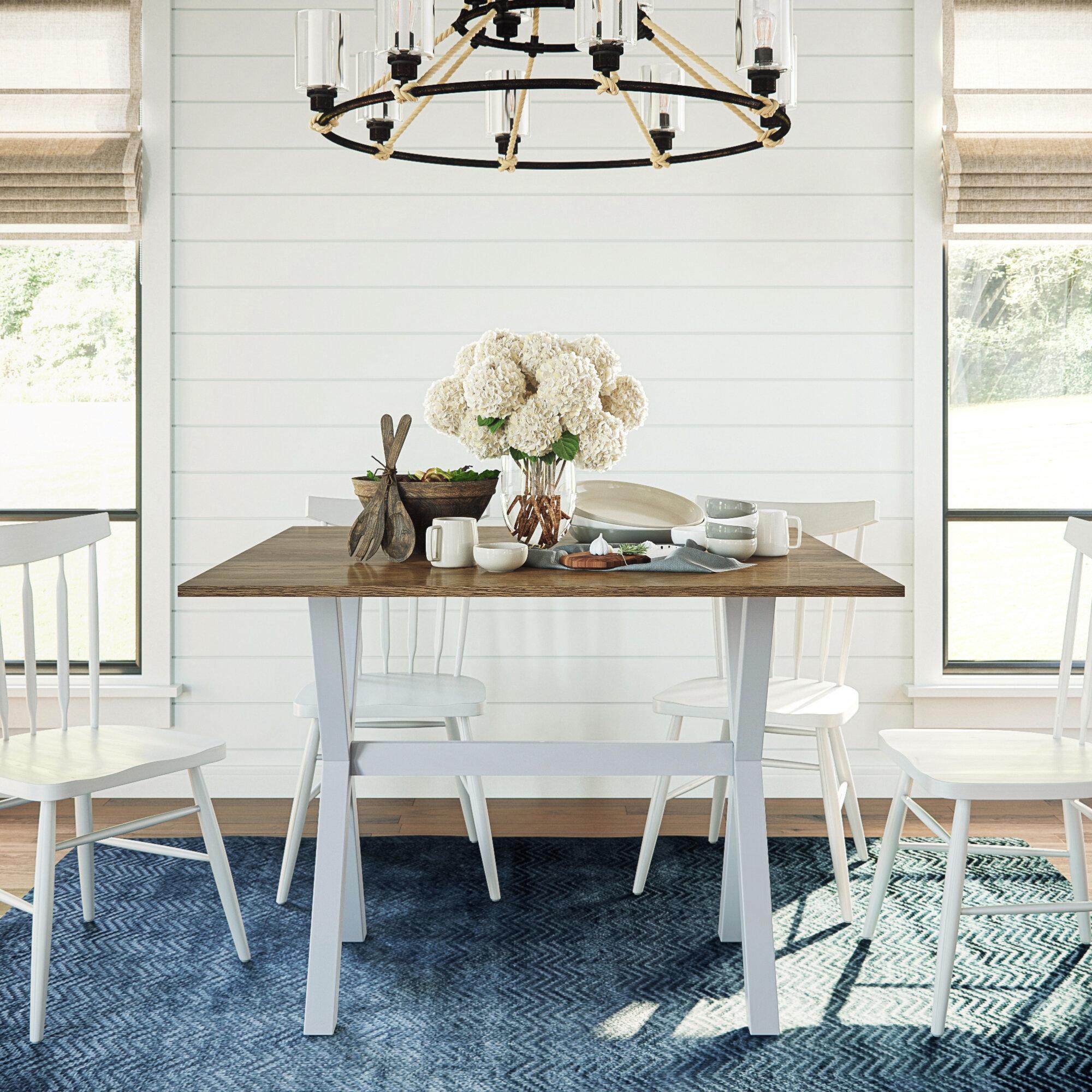 Wrought Studio Yorkshire Drop Leaf Solid Wood Dining Table Reviews Wayfair