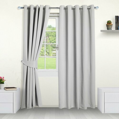 Eyelet Blackout Thermal Curtains Symple Stuff Colour: