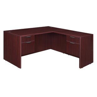 Linh L-Shaped Executive Desk with 4 Drawers