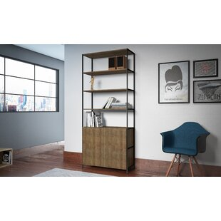 Check Prices Cayenna Wide Standard Bookcase by Union Rustic
