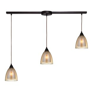 Albany 3-Light Cluster Pendant by Latitude Run