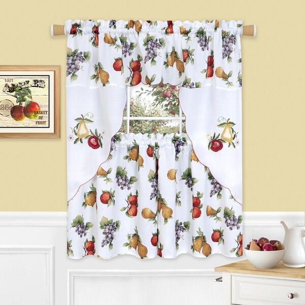 Grape Wine Kitchen Curtains Wayfair