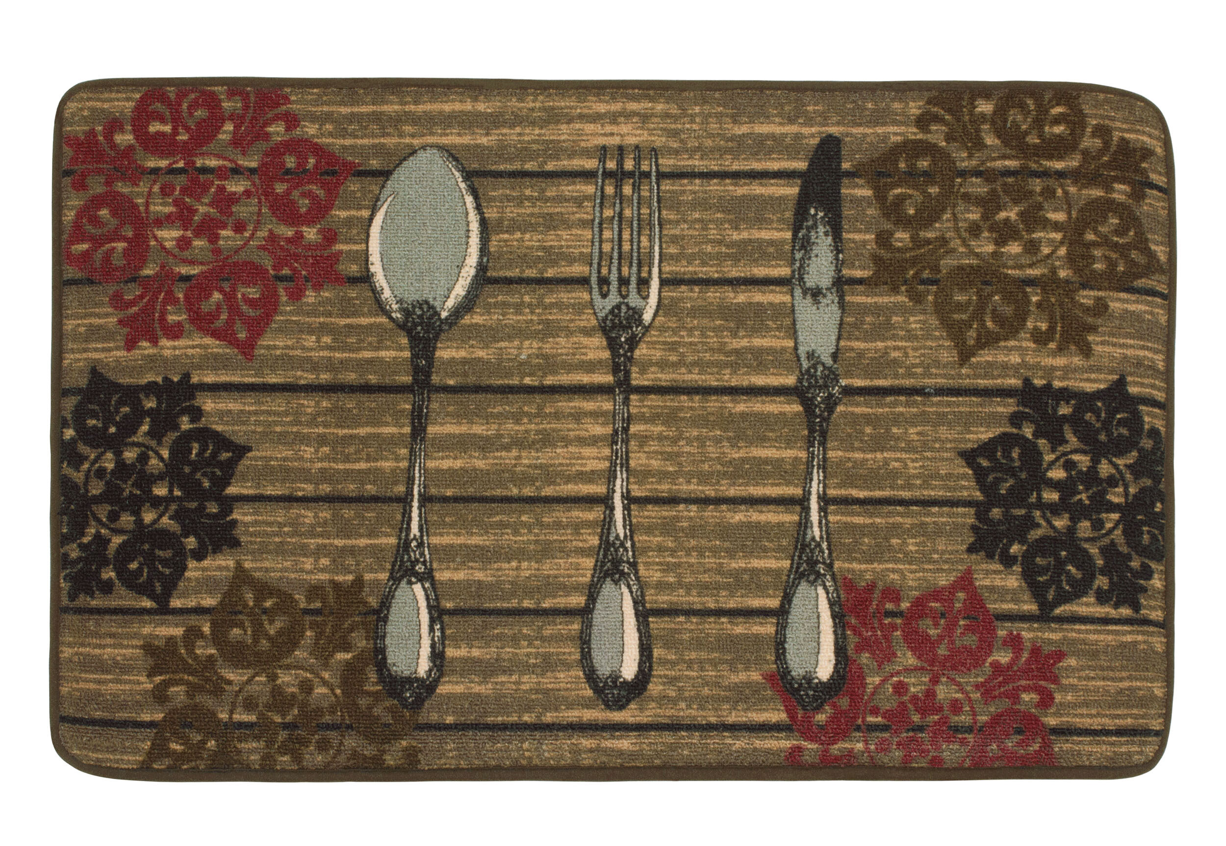 Fleur De Lis Living Rolph Hd Printed Rustic Utensils Kitchen Mat Reviews Wayfair Ca
