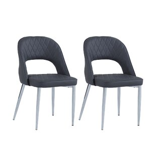 Fidelis Open Back Upholstered Dining Chair (Set of 2) Orren Ellis