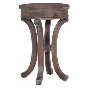 One Allium Way Laureole Mahogany End Table