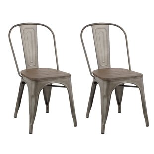 Famis Corp Industrial Metal Dining Chair ..