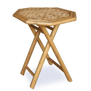 Ervine Octagonal Folding Bamboo End Table