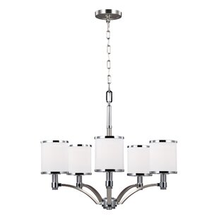 Latitude Run Gladys 5-Light Shaded Chandelier